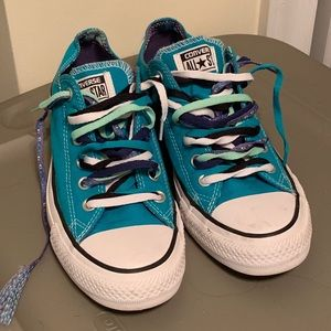 5a1673b978cd Converse · Turquoise Converse Chucks - Women s size 9